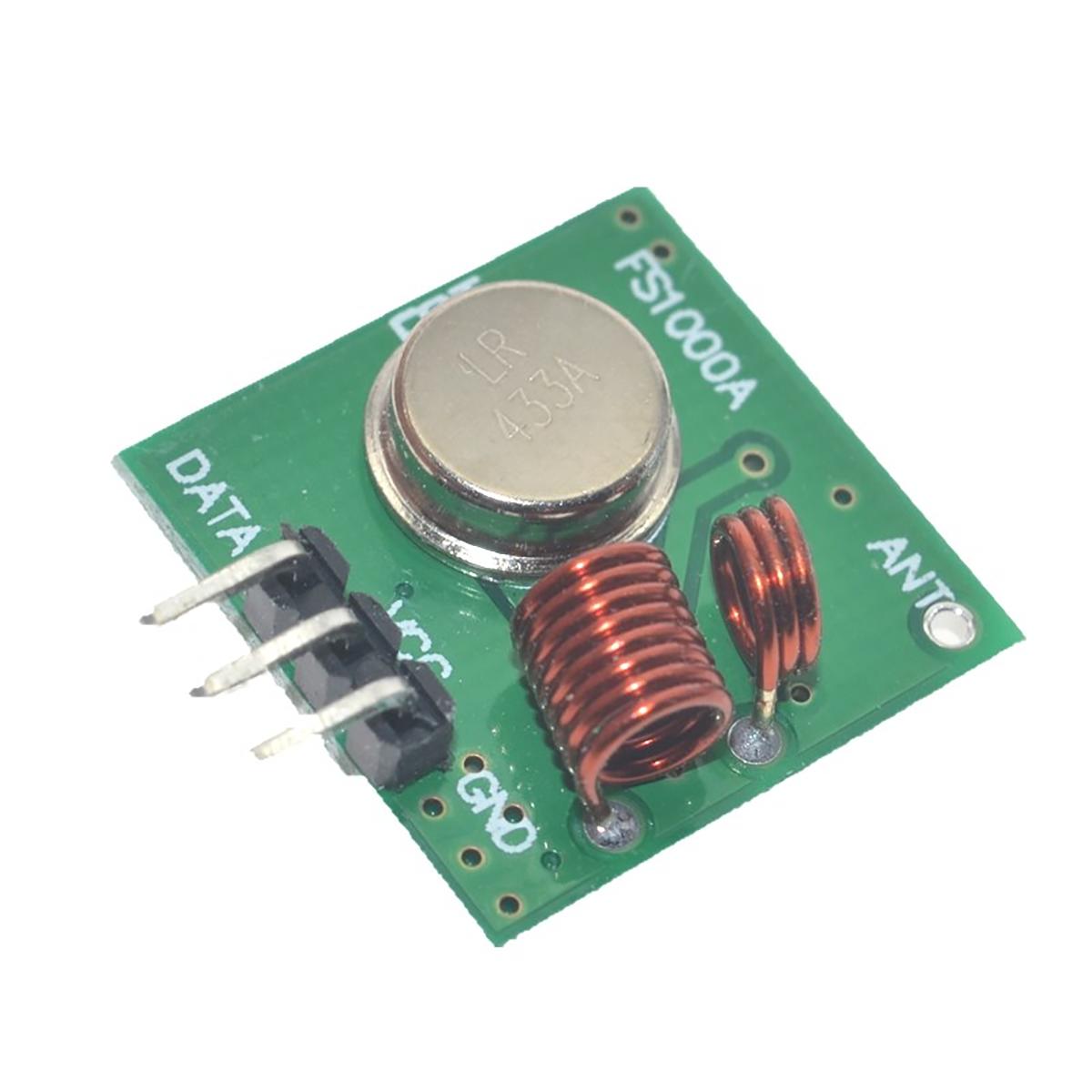 Módulo Rf Transmisor Y Receptor 433 Mhz Radiofrecuencia