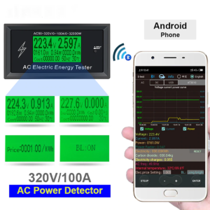 Voltiamperímetro Medidor De Consumo Ac 50-320v Con Bluetooth