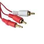 Cable 2×1 Audio – 2 Rca A Plug / Jack 3.5mm Sonido Estéreo