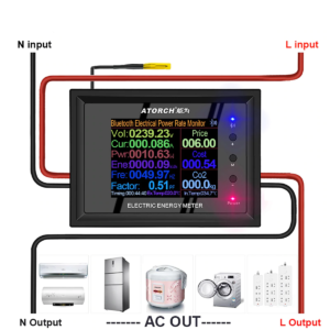 Voltímetro Digital Ac 50-300v Ac Vatímetro Con Bluetooth