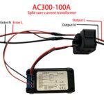 Voltimetro Digital AC 100A Bobina Abatible – Medidor Consumo