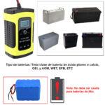 Cargador Inteligente, Tester Bateria 12v Automovil Y Moto