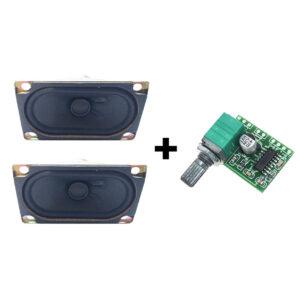 Kit Circuito Amplificador de Audio PAM8403 + 2 Bocinas
