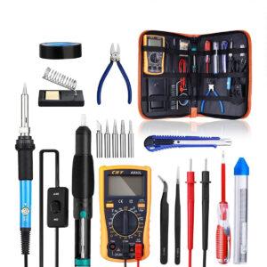 Kit Pro Soldadura Profesional Cautin Con Multimetro Combo B